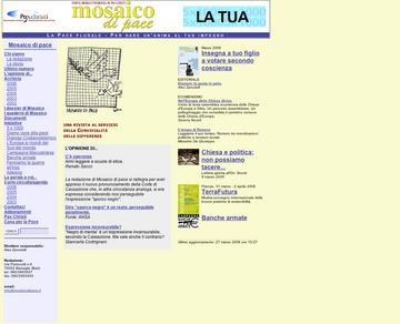 Mosaico di Pace è la rivista mensile promossa dalla sezione italiana di Pax Christi - movimento cattolico internazionale per la pace. Pace, ambiente, nonviolenza, disarmo, dialogo interreligioso per l